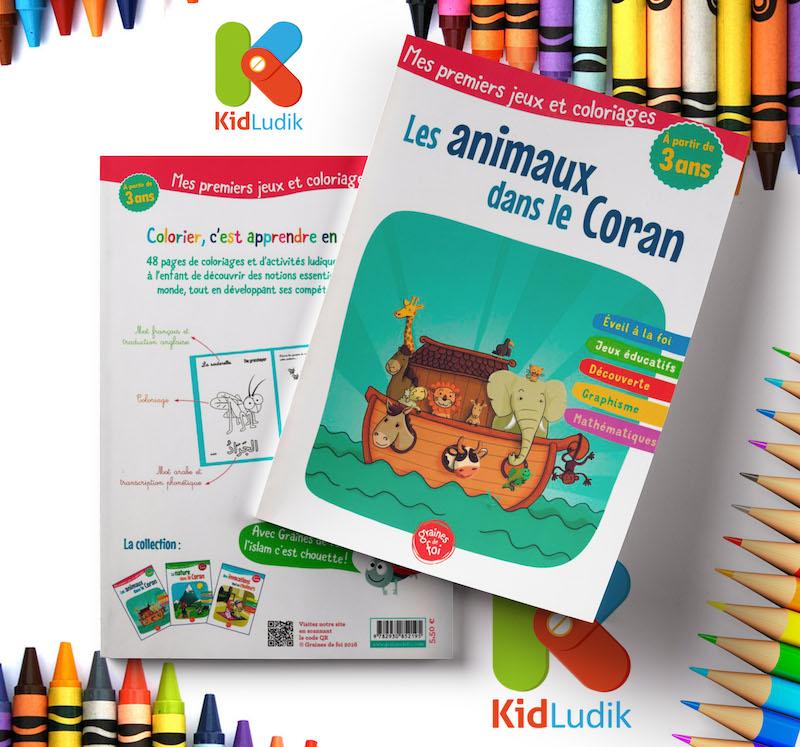 les animaux dans le coran mes premiers jeux de coloriages kidludik. Black Bedroom Furniture Sets. Home Design Ideas