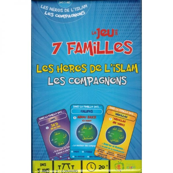 jeu de cartes compagnons 7 familles